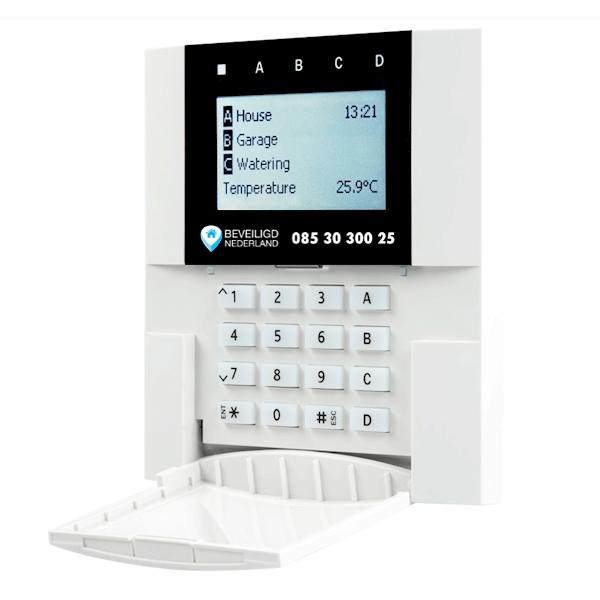 Codebedienpaneel DeLuxe alarmsysteem Beveiligd Nederland