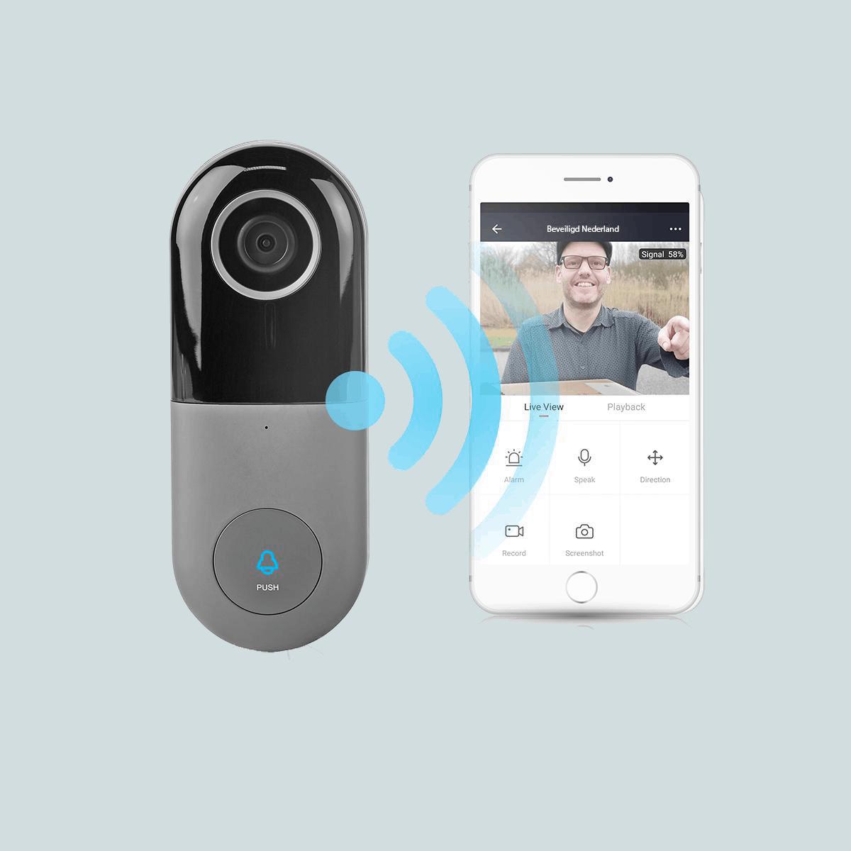 Slimme videodeurbel - beveiligd nederland - app telefoon (1)
