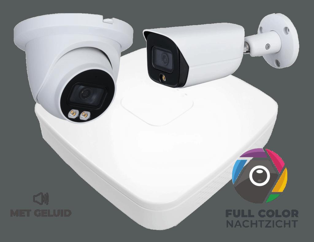 Full color camera bullet en dome Beveiligd Nederland comfort