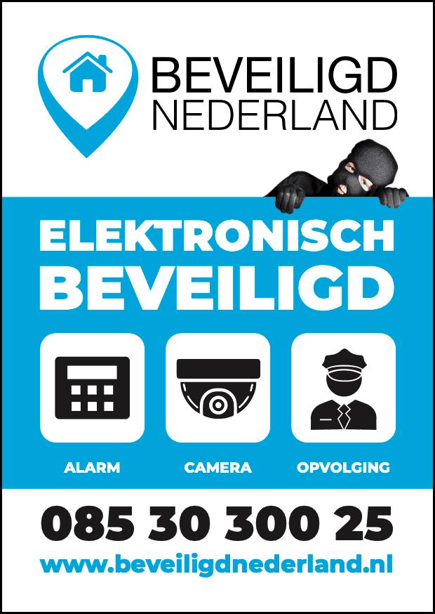 Preventiebord Beveiligd Nederland